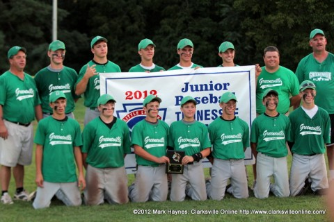 Greenville is the 2012 Junior Baseball (13-14) Tennessee State Champions.