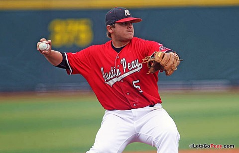 Third baseman Greg Bachman was named to the CollegeBaseballInsider.com All-America team, Tuesday. (Courtesy: Austin Peay Sports Information)