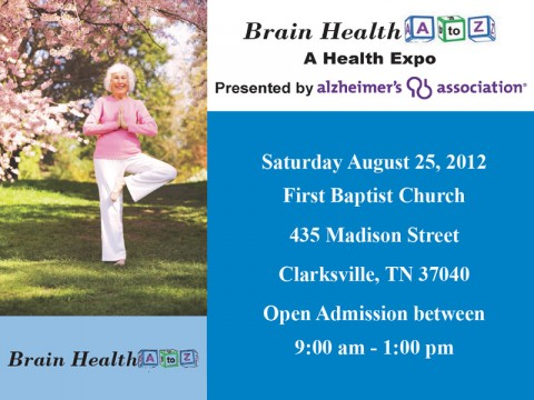 "First Baptist Church to host Alzheimer's Association ""Brain Health A to Z"" Health Expo August 25th"