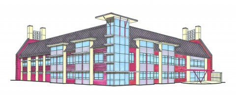 Concept Drawings of the New Math and Computer Science Buillding at APSU