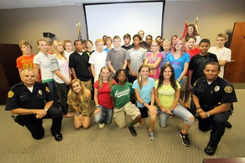 The 14th Teen Citizen Police Academy class photo. (Photo by CPD-Jim Knoll)