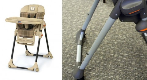 Chicco Polly High Chairs Recalled because of possible bruising or laceration injuries.