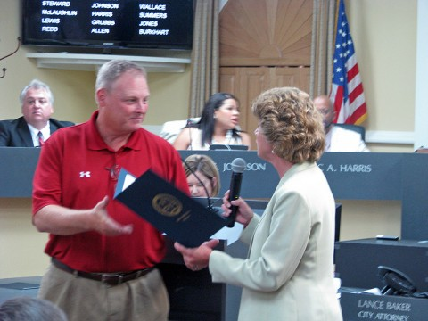 Clarksville City Council and Mayor Kim McMillan passed resolution recognizing July 2012 as Parks and Recreation Month.