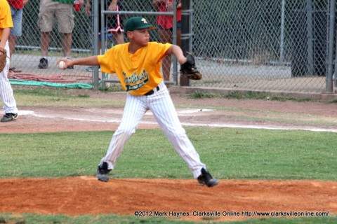 Northwest's Gabe Sibert pitched a one hit game to shutout Clarksville National Blue 10-0 Friday night.