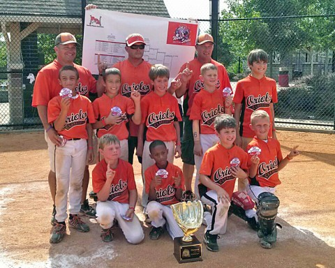 Pictured Left to right - (Front Row) Parker Neblett, KJ Crump, Gavin Baxter, Cooper Pennington. (Middle Row) Timmy Campbell, Cody Kirkland, Adam Urquhart, Peyton Oliphant, Luke Sinnard. (Back Row) Darren Baxter - Head Coach, Josh Pennington - Assistant Coach, and Danny Kirkland - Assistant Coach.