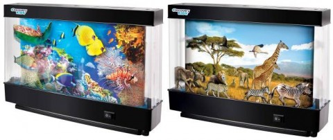Discovery Kids™ Animated Marine (left) and Safari (right) Lamps recalled due to fire and burn hazards.