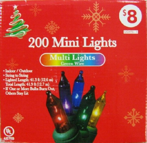 Decorative Light Sets recalled by Family Dollar because they do not meet UL standard and pose a fire and shock risk.