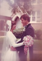On July 23rd, 1977, Mary Hopson and Mickey Fisher became husband and wife.