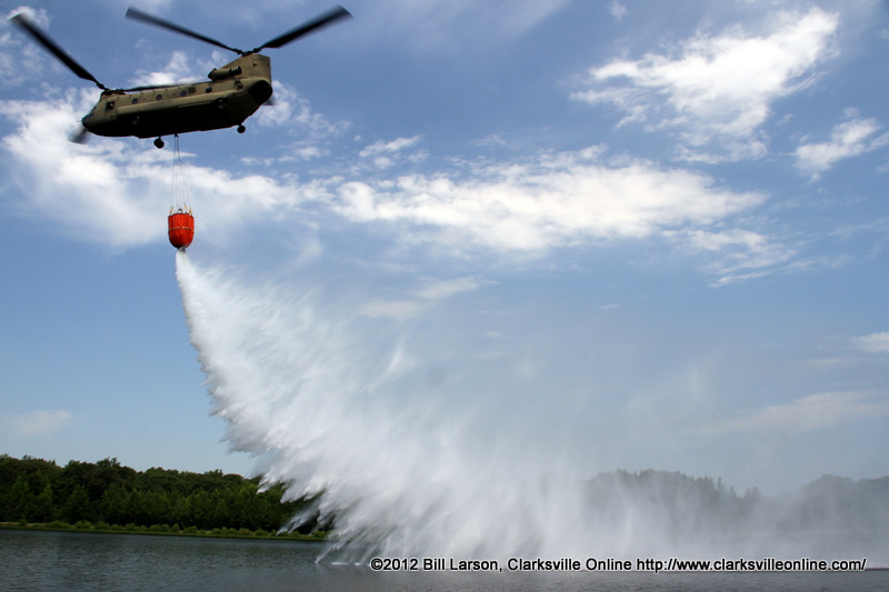 Dropping the water on target during a simulated pass for Target clarksville tn