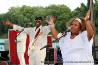 Tina Brown performing at the City of Clarksville's July 3rd Celebration