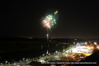 Fireworks explode over Clarksville on July 3rd