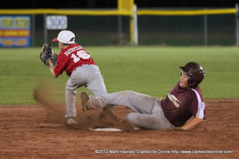 Johnson County defeated Montgomery Central Sunday night in Little League (13-14) State Tournament action.