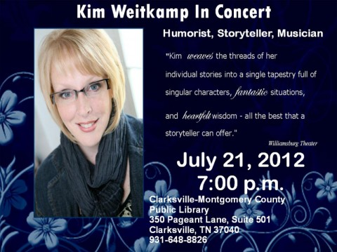 Kim Weitkamp in Concert at the Clarksville-Montgomery County Public Library