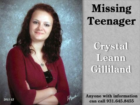 MIssing Teenager - Crystal Leann Gilliland