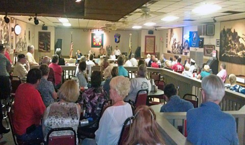 Mark Green speaking at the VFW Sunday Afternoon.