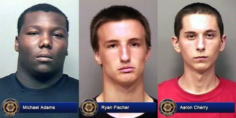 Michael Adams, Ryan Fischer and Aaron Cherry