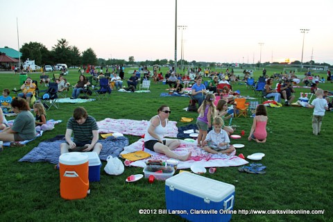 "Over 800 people came out to Movies in the Park to enjoy the movie ""The Help"" at the Heritage Park Soccer Fields."
