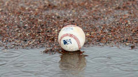 Saturday Night game postponed due to wet field conditions. Nashville Sounds Baseball. (Mike Strasinger)