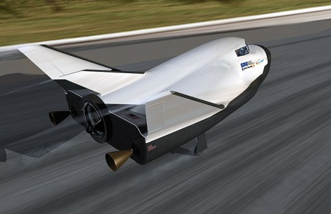 Image above: An artist's conception of Sierra Nevada Corp.'s Dream Chaser spacecraft landing on a traditional runway. (Image credit: Sierra Nevada Corp.)
