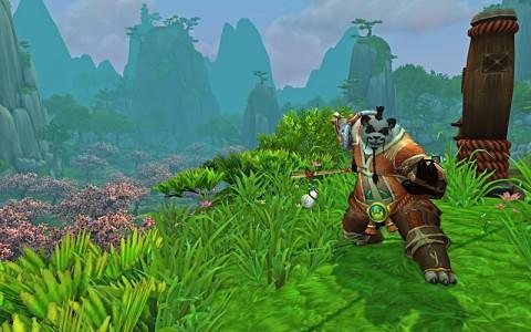 Pandaren Monk in Jade Forest.