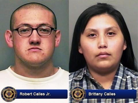 Robert Calles Jr. and Brittany Calles