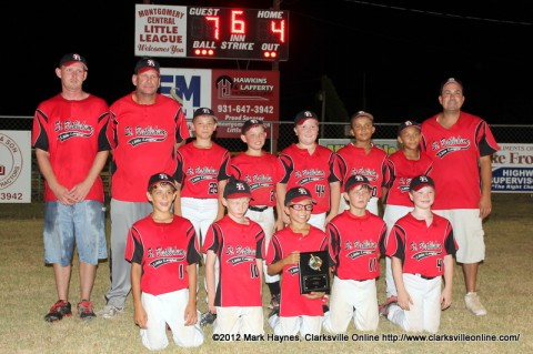 St. Bethlehem All Stars is the District 9 Ten Year Old Baseball Champions.