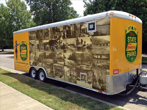 Tennessee State Parks' Traveling Trailer.