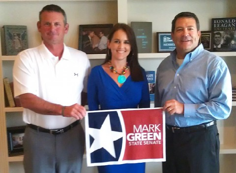 (L to R) Jim Durrett, Cydney Miller and Mark Green.