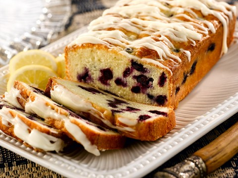 Lemon Blueberry Cream Cake
