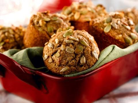 Loaded Honey Bran Muffins