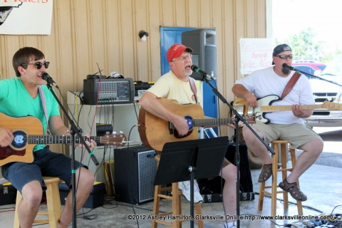 The Back Lot Pickers, Donald Greene and Lucian Greene, along with Jimmy Meek played at the 104th Annual Lone Oak Picnic.