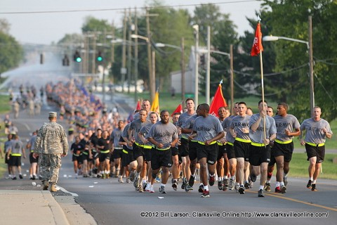 Fort Campbell kicks off the Week of the Eagles with a Division Run.