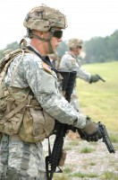 Soldiers from the 101st Airborne Division compete in the 2012 Week of the Eagles Marksmanship Competition on Aug. 14.  (Sgt. Alan Graziano, 3rd Brigade Combat Team, 101st Airborne Division)