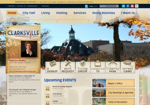 City of Clarksville's New Web Site