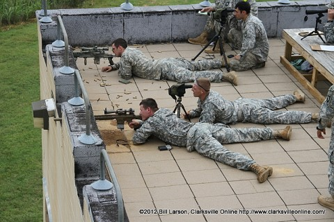 A u s army sniper takes a shot at a target downrange for Target clarksville tn