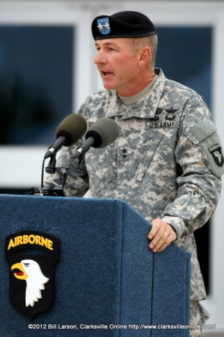 Maj. Gen James C. McConville, the Commander of the 101st Airborne Division