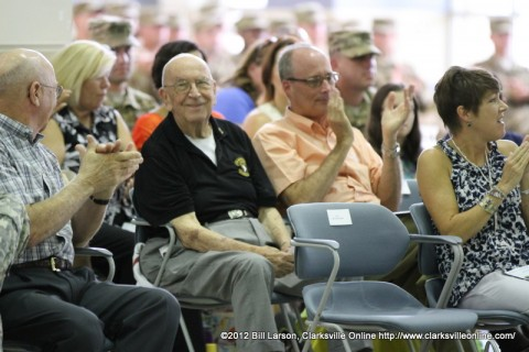 Col. Ted Crozier, Sr. (Ret.) as he is recognized in Col Bontrager's speech