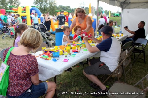 Toddler Zone at the 2011 Riverfest  Festival