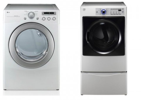 (L to R) LG Dryers model number DLG2051W and the Sears Kenmore Elite Dryers model number 796 905129 are just two of the dryer models in this recall.