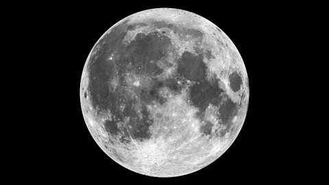 This composite image of the moon was constructed using Clementine data from 1994. (Credit: NASA)