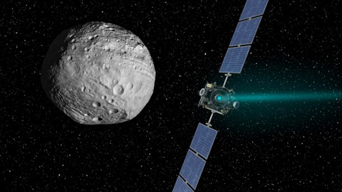 NASA's Dawn spacecraft arrived at the giant asteroid Vesta on July 15th, 2011 PDT (July 16th, 2011 EDT) and is set to depart on September 4th, 2012 PDT (September 5th EDT). (Image credit: NASA/JPL-Caltech)