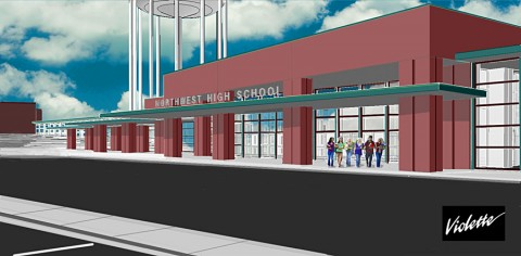 Artist drawing of the renovated Northwest High School