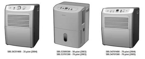 Sears Recalls Kenmore Dehumidifiers