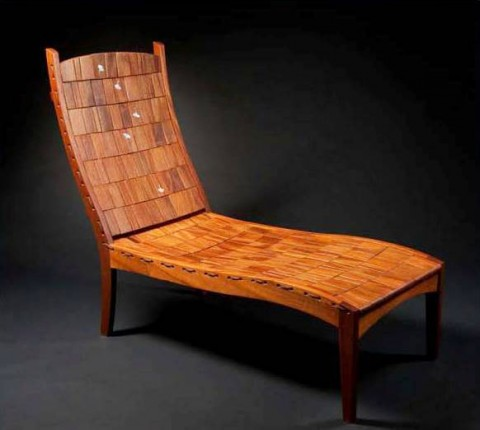 Ginkgo Chaise by Alan Daigre