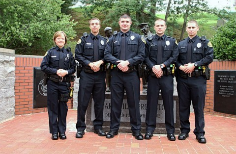 (L-R) Lacey Kitarogers, Anthony Murphy, Gary Mefford, Dustin Reynolds, Thomas Biele. (Photo Jim Knoll-CPD)
