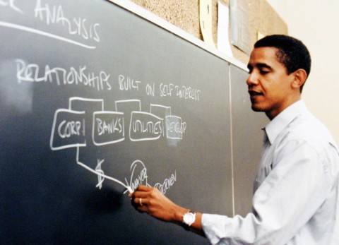 Barack Obama Teaching at the University of Chicago Law School