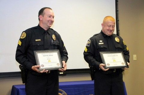 Sgt Greg Beebe and Sgt Steve Hamilton. (Photo by CPD-Jim Knoll)