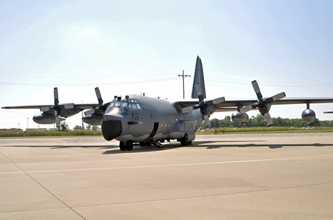 Fort Campbell plays host to this aircraft, and seven other MC-130E Combat Talon 1 aircraft, from the Air Force Reserve's 711th Special Operations Squadron, 919th Special Operations Wing out of Duke Field, Fla. Wednesday, Aug. 29. This is the first time this hurricane season Fort Campbell and the 101st Airborne Division (Air Assault) has welcomed crews and aircraft from another installation as they wait out severe weather. (U.S. Army photo by Nondice L. Thurman, Fort Campbell Public Affairs)