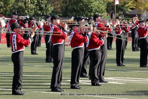 Governors Own Marching Band at halftime during a APSU Football Game.
