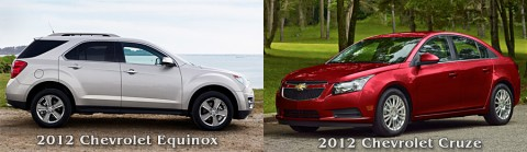 One lucky recipient will win his or her choice of a 2012 Chevrolet Equinox or 2012 Chevrolet Cruze.